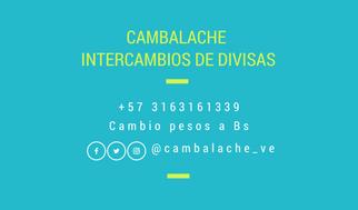 Cambalache INTERCAMBIOS DE DIVISAS